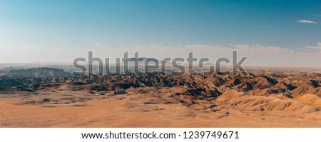 Namibia incredible landscape, moonscape in Erongo region near Swakopmund, Africa wilderness