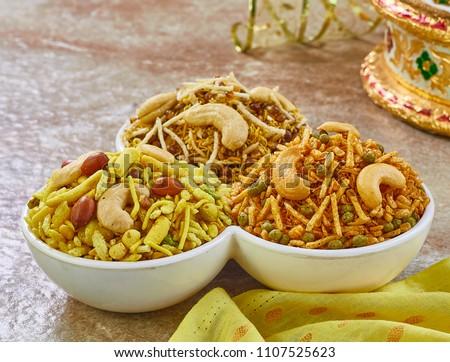 Namkeen, Kashmiri Mixture, Shahi Mixture and Moong Dal