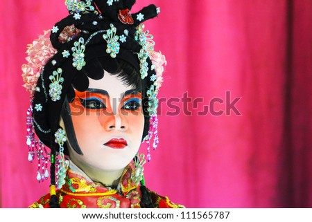 NAN, THAILAND - SEP 01: Chinese opera actor of  Celebrating  shrine Formation  100th year. on September 01, 2011 in Nan Province, Thailand.