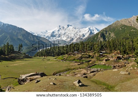 Nanga Parbat and Fairy Meadows in Northern Pakistan.