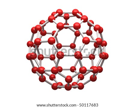 3D Carbon Atom http://www.shutterstock.com/pic-50117683/stock-photo-nano-sphere-from-carbon-atoms-isolated-on-white-background.html
