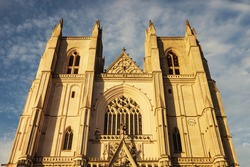 Nantes Cathedral in Nantes. Nantes, Pays de la Loire, France.