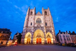 Nantes Cathedral or the Cathedral of St. Peter and St. Paul of Nantes in Nantes city, Pays de la Loire in France