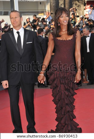 """Naomi Campbell & Vladimir Doronin at the gala premiere of """"The Beaver"""" in competition at the 64th Festival de Cannes. May 17, 2011  Cannes, France Picture: Paul Smith / Featureflash - stock photo"""