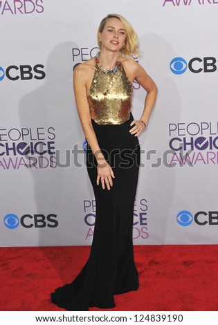 Naomi Watts at the People's Choice Awards 2013 at the Nokia Theatre L.A. Live. January 9, 2013  Los Angeles, CA Picture: Paul Smith