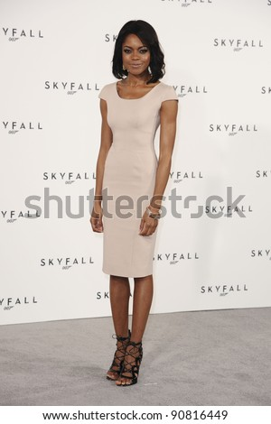Naomie Harris at the photocall to announce the start or production of the new James Bond film 'SKYFALL', at Massimo's restaurant, London. 03/11/2011 Picture by: Steve Vas / Featureflash