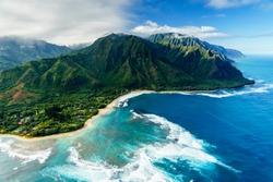 Napali Coast on Kauai, Hawaii