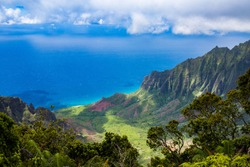 Napali Coast on Kauai Hawaii