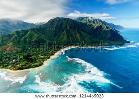 Napali Coast on Kauai, Hawaii Stock photo ©