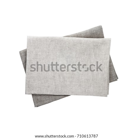 Napkin isolated. Napkin close up top view mock up for design. Place for text