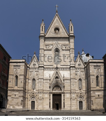 Naples Cathedral is the main church of Naples, southern Italy, commissioned by King Charles I of Anjou, completed in the early 14th century under Robert of Anjou. #314159363