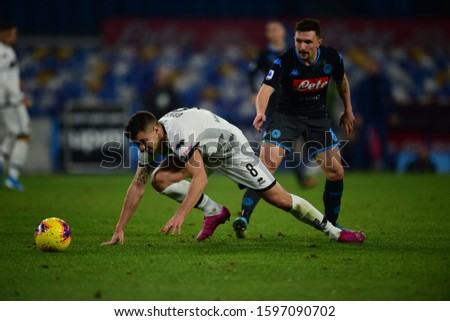 Napoli Italy, December 14th, 2019: football Serie A match between Napoli vs Parma at San Paolo Stadium.In the pic: Alberto Grassi of PARMA