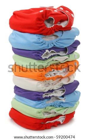 nappies isolated on white background