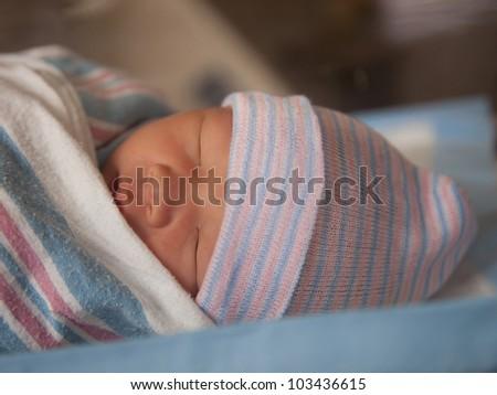 Napping newborn
