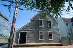 Narbonne Hale House at 71 Essex Street in Salem Maritime National Historic Site NHS in Historic downtown Salem, Massachusetts MA, USA.