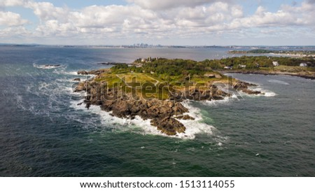 Narhant Coastline with Boston in the background #1513114055