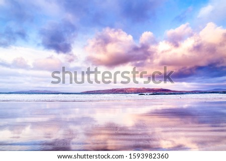 Narin Strand is a beautiful large blue flag beach in Portnoo, County Donegal in Ireland. Stok fotoğraf ©