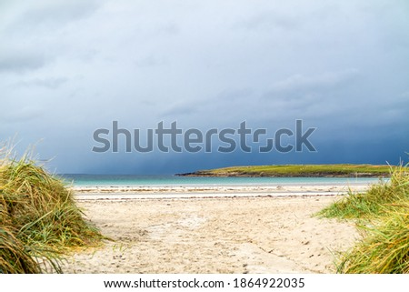 Narin Strand is a beautiful large blue flag beach in Portnoo, County Donegal - Ireland. Stok fotoğraf ©