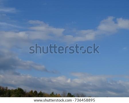 narrow clouds  #736458895