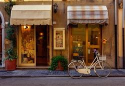 Narrow cozy street in Pisa, Tuscany, Italy. Architecture and landmark of Pisa