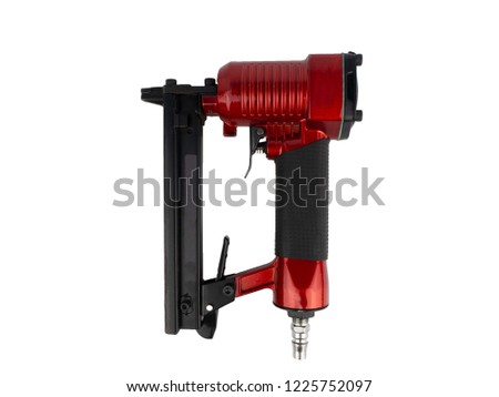Narrow crown stapler gun for construction and home repair fabric, upholstery, vinyl, window treatments, light duty wood assembly