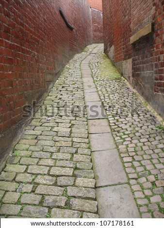 Narrow path in Durham City