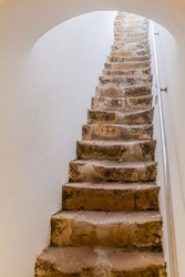 Narrow stairway of  the Cathedral of Faro (Se de Faro), Portugal