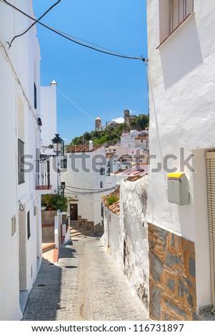 Narrow street in Spanish village