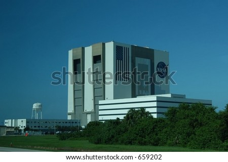 NASA vehicle assembling building at Kennedy Space Center,
