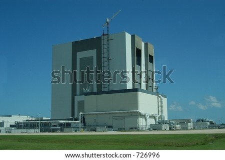 NASA vehicle assembling building at Kennedy Space Center, Cape Canaveral, Florida