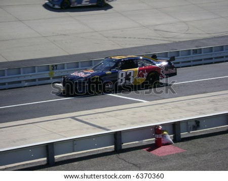 nascar`s Brian vickers qualifing at dover