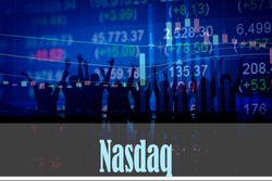 Nasdaq - Hand writing word to represent the meaning of financial word as concept. A word Nasdaq is a part of Investment&Wealth management in stock photo.