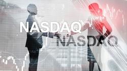 Nasdaq Stock Market Finance Concept. Market crisis.