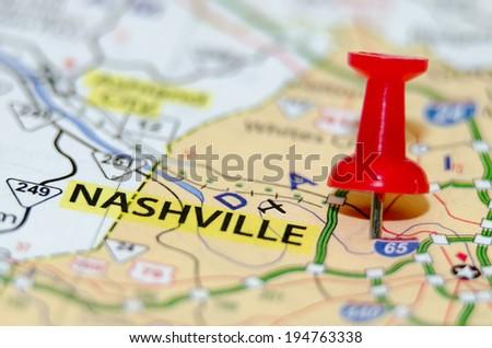 nashville city pin on the map