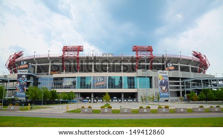 NASHVILLE - MAY 2: LP Field early in the morning in Nashville on May 02, 2013. The stadium is the home field of the NFL's Tennessee Titans and the Tennessee State University Tigers.