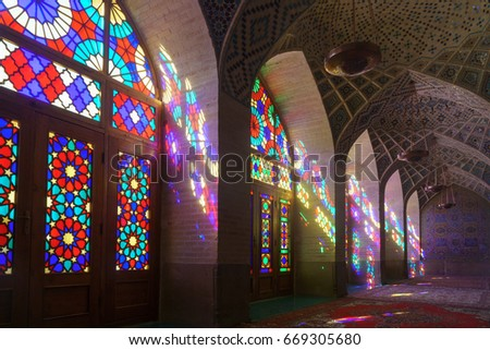 Nasir al molk mosque in Shiraz - 3 June 2017 iran