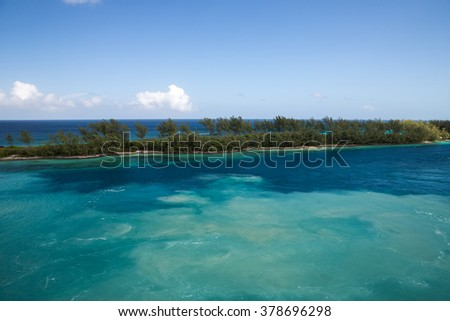 Nassau, Bahamas - December 29, 2015: View of Paradise Island in Nassau, Bahamas. #378696298