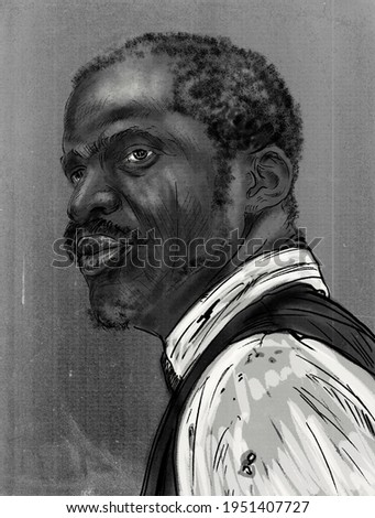 Nat Turner, Black American slave who led the only effective, sustained slave rebellion (August 1831) in U.S. history.  Photo stock ©