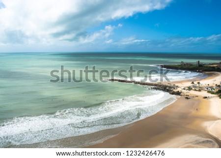 Natal, Rio Grande do Norte/Brazil: Aerial View from Areia Preta Beach during a sunny day