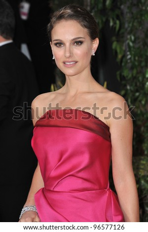 Natalie Portman at the 69th Golden Globe Awards at the Beverly Hilton Hotel. January 15, 2012  Beverly Hills, CA Picture: Paul Smith / Featureflash