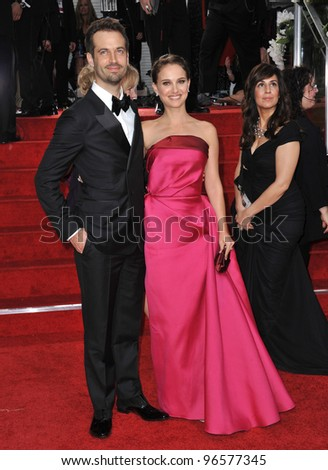 Natalie Portman & Benjamin Millepied at the 69th Golden Globe Awards at the Beverly Hilton Hotel. January 15, 2012  Beverly Hills, CA Picture: Paul Smith / Featureflash