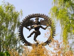 Nataraj dancing the cosmic dance. Beijing World Park, Beijing, P.R. China