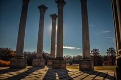 National Capitol Columns Casting Shadows - United States National Arboretum - Washington D.C.