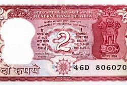 National Emblem of India - Lion Capital of Asoka (Ashoka column), Portrait from India 2 Rupees 1985-90 Banknotes.