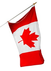 National flag of Canada isolated on white background