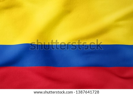 National Flag of Colombia - Rectangular Shape  Stock photo ©
