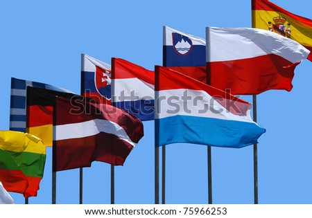 National flag of European countries