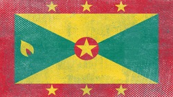 National Flag of Grenada - Rectangular Shape patriotic symbol