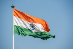 National Flag of India at Central Park, Connaught Place, New Delhi, India, South east Asia.