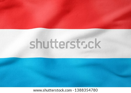 National Flag of Luxembourg - Rectangular Shape patriotic symbol  #1388354780